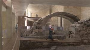 Artistic rendering of museum's ground floor (Valeria Gaspari for the Studio Strati).